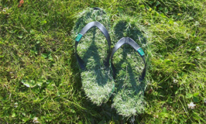 çimenlerin üzerinde yürümek