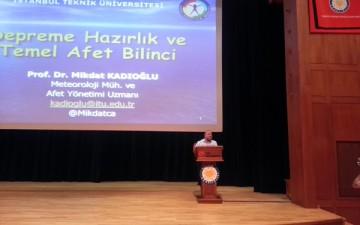 Prof. Dr. Mikdat Kadıoğlu afet öncesi risk değerlendirmesinin önemine dikkat çekti