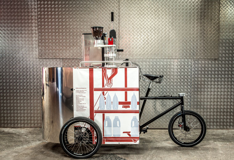 Velopresso pedal gücüyle kahve