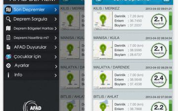 Deprem verileri bugünden itibaren akıllı telefonlarda!