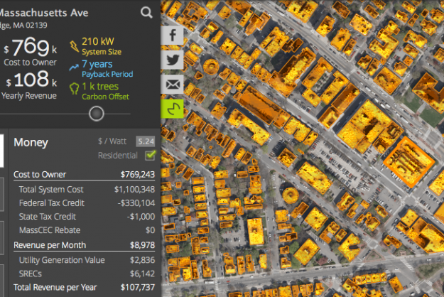 güneş paneli haritası uygulama google maps