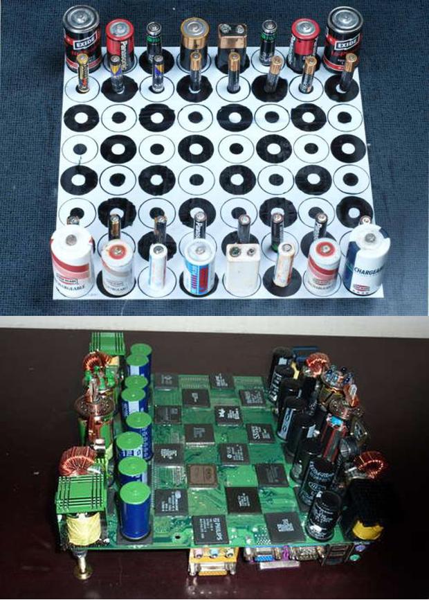 geri dönüşüm satranç seti