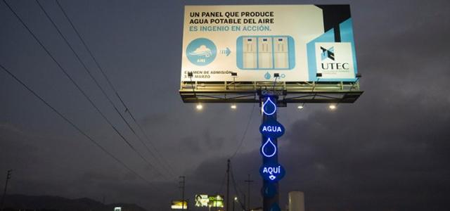 içme suyu üreten billboard sürdürülebilir reklam