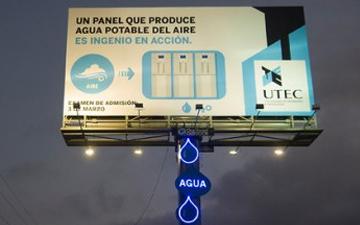 Havadaki nemi içme suyuna dönüştüren reklam panosu