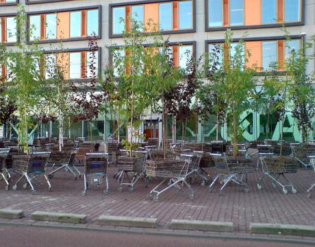 market arabası bahçesi